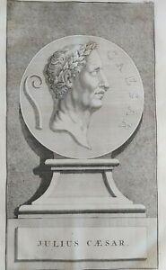 1722 Peter Van der Aa Ritratto Gaio Giulio Cesare Julius Caesar