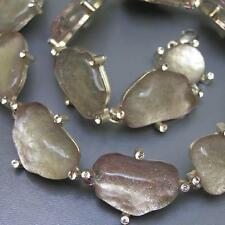 Vintage Sign Cecile Jeanne Poured Gripoix  Rhinestones Choker Necklace