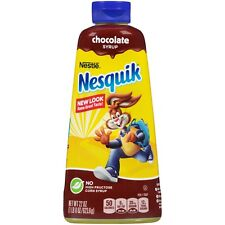 NEW NESTLE NESQUIK CHOCOLATE SYRUP 22 OZ NO HIGH FRUCTOSE CORN SYRUP
