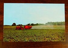 JOHN BEAN MODEL 30 AIR CROP SPRAYER IN ACTION 1950's Advertising Postcard