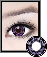 Lentilles de Couleur VIOLET Big Eyes DIAMOND Duree 365j. Filtre Contact UV +Etui