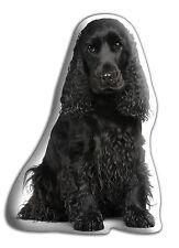 "Cocker Spaniel (BLK) Dog Gift – Beautiful Large 'Cuddle Cushion' approx 18""x 16"""