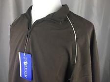 Turfer Sports Mens Medium M 1/4 Zip Brown Windbreaker Jacket Pullover