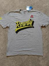 NWT MENS LARGE RONDA ROWDY ROUSEY UFC REEBOK T SHIRT GRAY