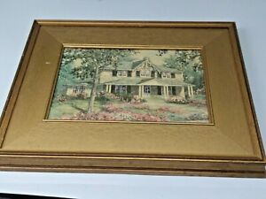 "Canadian Artist James Keirstead Framed Print  ""Barberry Cottage"" Kingston, ONT."