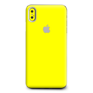 Skins Decal Wrap for Apple iPhone XS Max Bright Yellow
