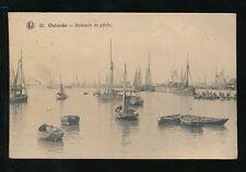 Belgium OSTENDE Fishing boats Bateaux de Peche PPC Used 1921