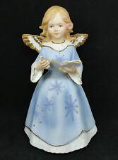 "Vintage Artmark Christmas Angel Caroling Ceramic Wind Up Musical 8"""