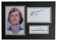Gordon McQueen Signed Autograph A4 photo display Leeds United Football COA
