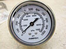 "Marsh  Bellofram   pressure gauge   0-1000 PSI   1/4"" NPT   J7272P"