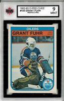 1982-83 O-Pee-Chee #105 Grant Fuhr RC Graded 9.0 Mint (052619-91)