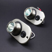 2x 12v Spot Light Eyeball Ceiling Berth Light Halogen w/ Switch Motorhome Boat