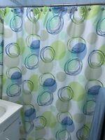 "New Echo design 100% cotton Fabric Shower curtain bubbles multi colors 72"" x 72"""