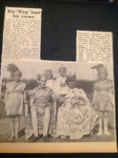 A3-8 Ephemera 1961 Picture Broadstairs Gillian Whibley Philip Shaw Crowned