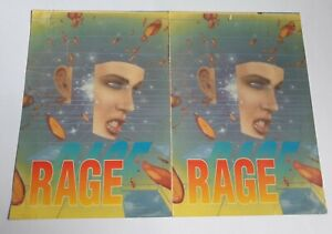 RAGE GOES TO THE SEASIDE AT STERNS OLD SKOOL RAVE FLYER RARE 1991