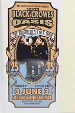 THE BLACK CROWES AND OASIS THE BROTHERLY LOVE TOUR HANDBILL FLYER