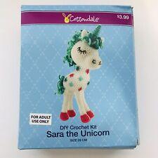 "New Crochet Unicorn Diy Kit "" Sara"" Cottondale-Factory Sealed-Arts & Craft"