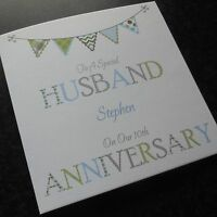 Personalised WEDDING ANNIVERSARY CARD Husband Wife Partner FOR ANY YEAR {AN1}