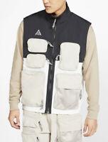 NWT Men's Nike ACG Vest Black/Summit White Full Zip CK7236-010 Size Small