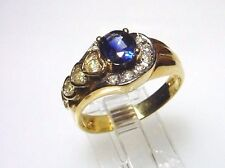 Elegant Genuine Sapphire Solid 14kt Gold Ring, Magnificent, Free shipping(#2189)