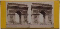 Arco Di Triomphe Da L Stella Foto Stereo Vintage Albumina Ca 1870