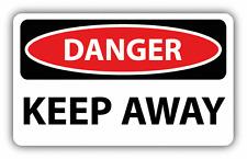 """Danger Keep Away Sign Warning Car Bumper Sticker Decal 6"""" x 4"""""""