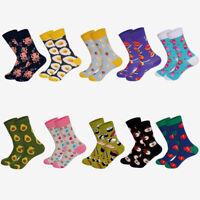 1 Pair New Funky Food Series Couple Happy Socks Men Women Creative Socks