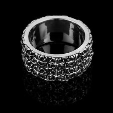 NEW TEMPLAR Clocks and Colours 925 Sterling Silver Ring Size 8 Mens RARE LIMITED