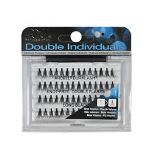 10 x Double Flare Long Duralash by Ardell Individual Natural Black Knot Free