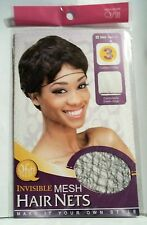 """QFITT MESH INVISIBLE HAIR NETS #505 BLACK """"NEW"""" 3 NETS INCLUDED"""