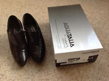 Russell Bromley AquaTalia  Black Patent Snakeskin Shoe Boot Size 37.5 = 41/2