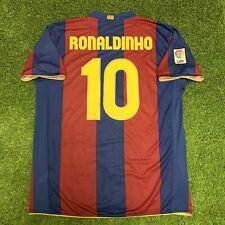 2007 2008 FC Barcelona Jersey Shirt Kit Ronaldinho Brazil Home XL Nike 10 Liga