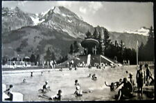 Switzerland~ADELBODEN~1950s SWIMMING POOL ~ UFO DIVING BOARD ~ RPPC