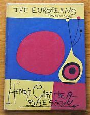HENRI CARTIER-BRESSON - THE EUROPEANS 1955 1ST EDITION W/ DUST JACKET - NICE