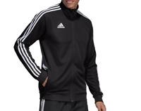 adidas Tiro Track Jacket Mens Small to Large Black Climalite Quick Dry Training