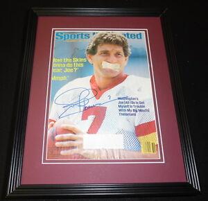 Joe Theismann Signed Framed 1984 Sports Illustrated Magazine Cover Washington C
