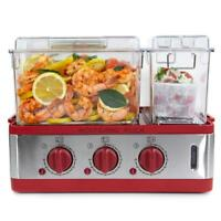Wolfgang Puck 3Chamber 9Quart Electric Steamer with Recipes