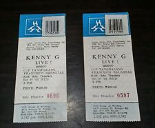 2 pcs Kenny G concert tickets used