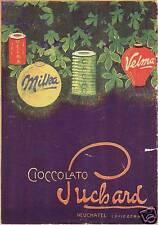 PUBBLICITA' 1915 SUCHARD CIOCCOLATO LANTERNA  MILKA VELMA SVIZZERA CACAO NATALE
