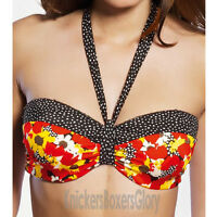 Freya Swimwear Flamingo Bandeau Bikini Top Lipstick NEW 3149 Select Size
