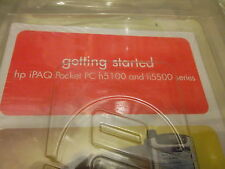 New HP IPAQ h5100 H5500 series getting started pocket pc 2003 premium cd sealed.