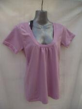 BNWT Womens Sz 10 to 12 Bella B Wear Scoop Neck Pink Short Sleeve Round Neck Top