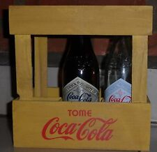 crate coca cola with 6 glass bottles 120 aniVERSARY FROM ARGENTINA 2006