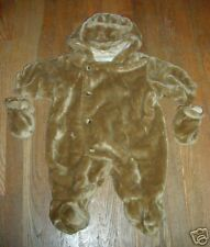 Snowsuit brown bear snowsuit with bear ears and mittens 12Mo smoke free home