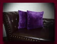 Kissen Kissenhülle Dekokissen im Glanz - Design Farbe violett