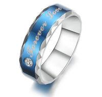 "R013 ""Forever love"" Titanium Steel Promise Ring Couple Wedding Bands love gift"