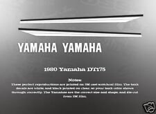 YAMAHA 1980 DT175 FUEL GAS TANK DECAL GRAPHIC SET
