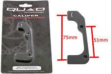 QUAD DISC BRAKE CALIPER MOUNT 51mm / 75mm QAB03 203F / 180R 50% OFF RRP
