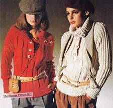 RERO JUMPER CABLE & RIB / DK & 12ply  - COPY Ladies knitting pattern
