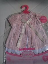 COROLLE..VETEMENTS  NEUF...POUPEE 42CM.....ROBE ROSE CHIC .....ANNEE 2009